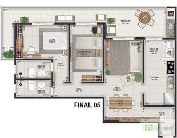 Apartamento, código 14879439 em Praia Grande, bairro Guilhermina