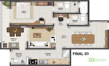 Apartamento, código 14879441 em Praia Grande, bairro Guilhermina