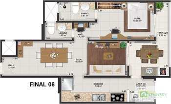 Apartamento, código 14879444 em Praia Grande, bairro Guilhermina