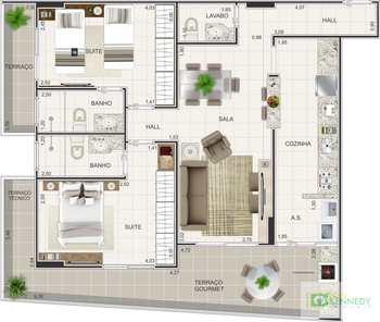 Apartamento, código 14879411 em Praia Grande, bairro Boqueirão