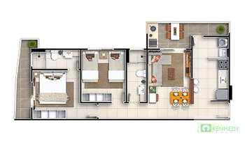 Apartamento, código 14879422 em Praia Grande, bairro Guilhermina
