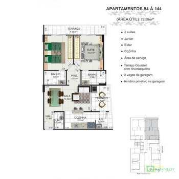 Apartamento, código 14879462 em Praia Grande, bairro Caiçara