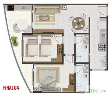Apartamento, código 14876760 em Praia Grande, bairro Canto do Forte