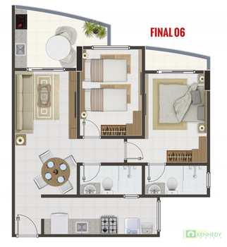 Apartamento, código 14879347 em Praia Grande, bairro Canto do Forte