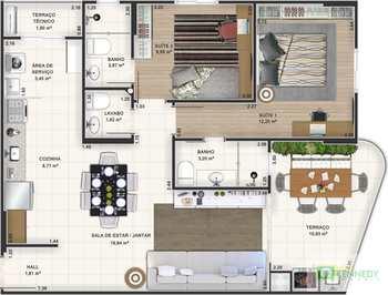 Apartamento, código 14876742 em Praia Grande, bairro Canto do Forte