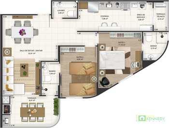Apartamento, código 14876743 em Praia Grande, bairro Canto do Forte