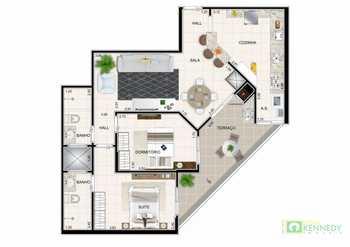 Apartamento, código 14876821 em Praia Grande, bairro Guilhermina