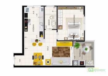 Apartamento, código 14876825 em Praia Grande, bairro Guilhermina