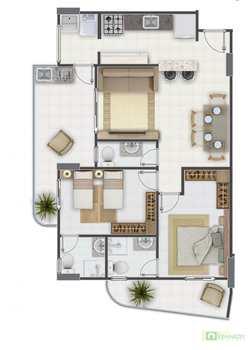 Apartamento, código 14879515 em Praia Grande, bairro Aviação