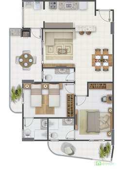 Apartamento, código 14879516 em Praia Grande, bairro Aviação