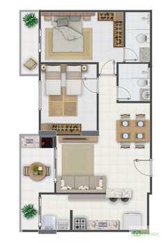 Apartamento, código 14879517 em Praia Grande, bairro Aviação