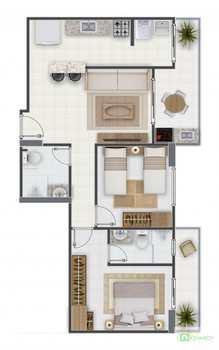 Apartamento, código 14879520 em Praia Grande, bairro Aviação
