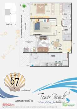 Apartamento, código 14876869 em Praia Grande, bairro Aviação