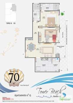 Apartamento, código 14876871 em Praia Grande, bairro Aviação