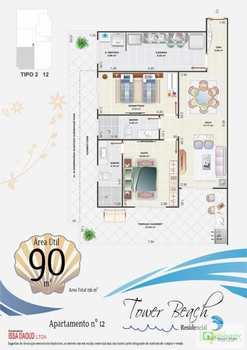 Apartamento, código 14879545 em Praia Grande, bairro Aviação