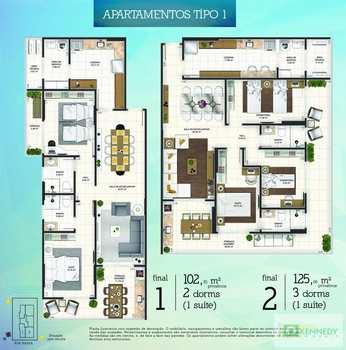 Apartamento, código 14879361 em Praia Grande, bairro Canto do Forte