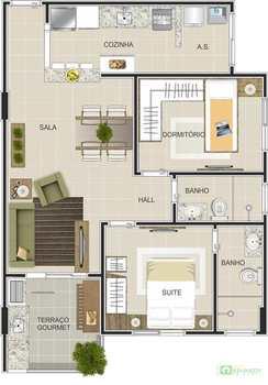 Apartamento, código 14876723 em Praia Grande, bairro Canto do Forte