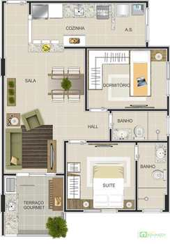 Apartamento, código 14876724 em Praia Grande, bairro Canto do Forte