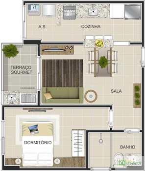 Apartamento, código 14876725 em Praia Grande, bairro Canto do Forte