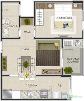 Apartamento, código 14876729 em Praia Grande, bairro Canto do Forte