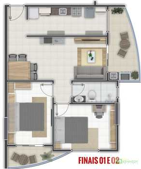 Apartamento, código 14876761 em Praia Grande, bairro Aviação