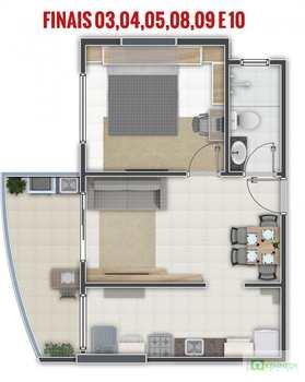 Apartamento, código 14876762 em Praia Grande, bairro Aviação