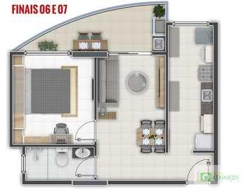 Apartamento, código 14876765 em Praia Grande, bairro Aviação