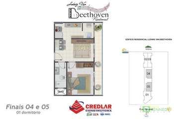 Apartamento, código 14876779 em Praia Grande, bairro Guilhermina