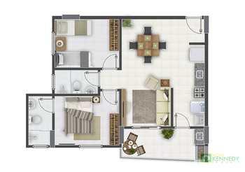Apartamento, código 14877003 em Praia Grande, bairro Guilhermina