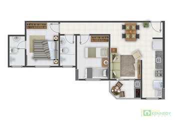 Apartamento, código 14877009 em Praia Grande, bairro Guilhermina