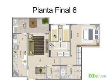 Apartamento, código 14879532 em Praia Grande, bairro Ocian