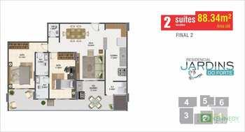 Apartamento, código 14879342 em Praia Grande, bairro Canto do Forte