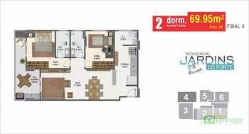 Apartamento, código 14879344 em Praia Grande, bairro Canto do Forte
