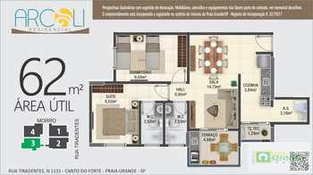 Apartamento, código 14879351 em Praia Grande, bairro Canto do Forte