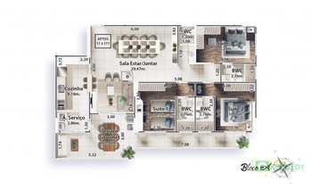 Apartamento, código 14879373 em Praia Grande, bairro Canto do Forte