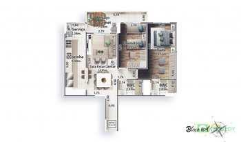 Apartamento, código 14879377 em Praia Grande, bairro Canto do Forte