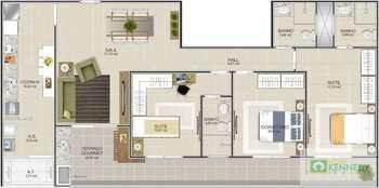 Apartamento, código 14879404 em Praia Grande, bairro Boqueirão