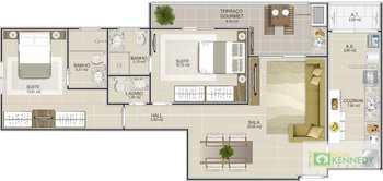 Apartamento, código 14879406 em Praia Grande, bairro Boqueirão