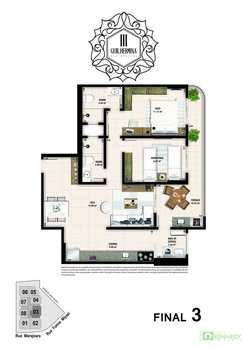 Apartamento, código 14879430 em Praia Grande, bairro Boqueirão