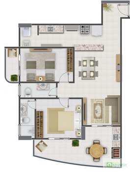 Apartamento, código 14879447 em Praia Grande, bairro Aviação
