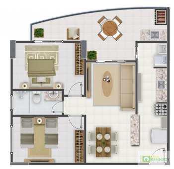 Apartamento, código 14879449 em Praia Grande, bairro Aviação