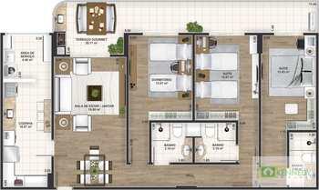 Apartamento, código 14879469 em Praia Grande, bairro Canto do Forte