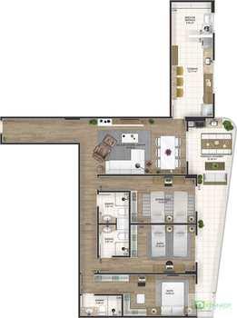 Apartamento, código 14879470 em Praia Grande, bairro Canto do Forte