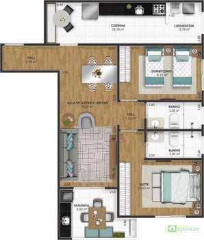 Apartamento, código 14879521 em Praia Grande, bairro Ocian