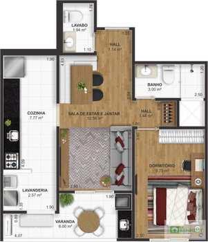 Apartamento, código 14879522 em Praia Grande, bairro Ocian