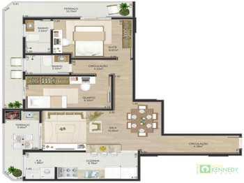 Apartamento, código 14876975 em Praia Grande, bairro Boqueirão