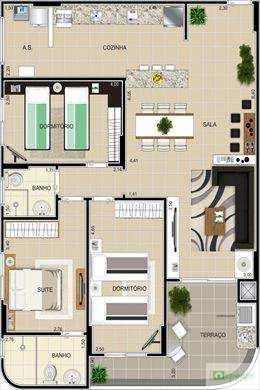 Apartamento, código 397800 em Praia Grande, bairro Guilhermina