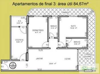 Apartamento, código 134802 em Praia Grande, bairro Tupi