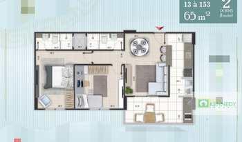Apartamento, código 14878295 em Praia Grande, bairro Ocian