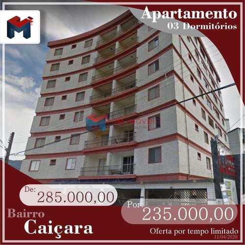 Apartamento, código 412445 em Praia Grande, bairro Caiçara